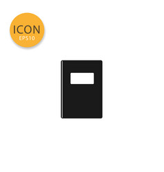 book icon isolated flat style vector image