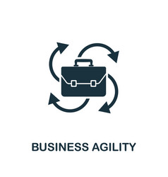 business agility icon symbol creative sign from vector image