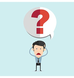 cartoon with bar question mark in flat de vector image
