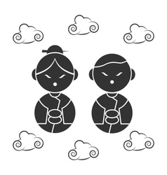 Chinese icons face vector