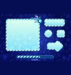 christmas user interface and elements for game or vector image