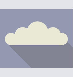 cloud flat with shadows vector image