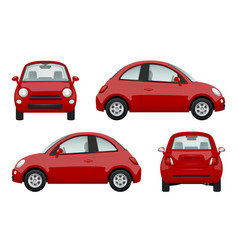 colored cars various realistic of vector image
