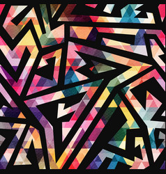 Colored geometric seamless pattern vector