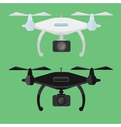 Drone with Camera in flat style vector