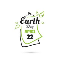 Earth day april holiday vector