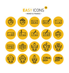 easy icons 13 money vector image