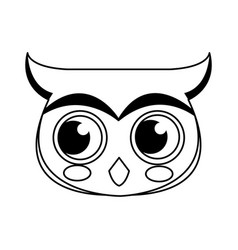 face owl christmas animal character outline vector image