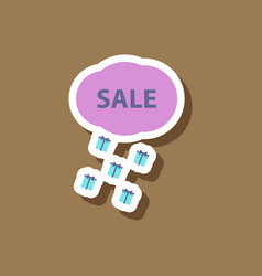 Fashion patch sale sticker gift rain vector