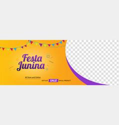 festa junina festival social media cover vector image
