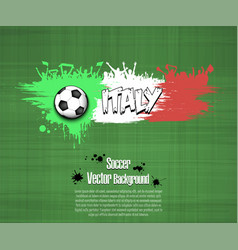 flag of italy and football fans vector image