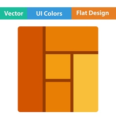 Flat design icon of parquet plank pattern vector