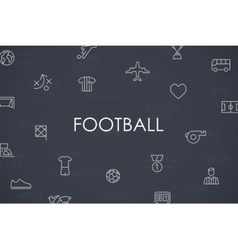 Football Thin Line Icons vector