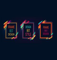 frame best design poster on vector image