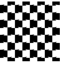 Geometric black and white pattern seamlessly vector