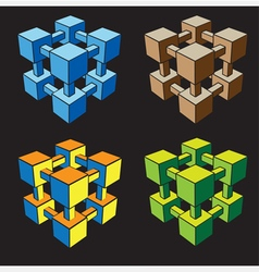 geometric structure in color vector image