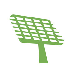 green solar panel icon simple style vector image