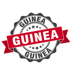 guinea round ribbon seal vector image