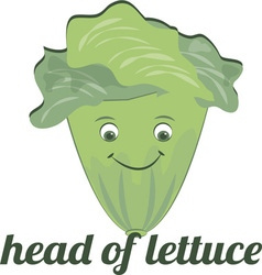Head of Lettuce vector image