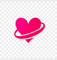 heart logo modern abstract flat icon vector image