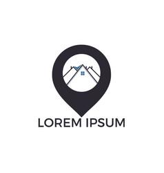 house locator logo design vector image
