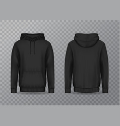 isolated back and front man hoody on transparent vector image