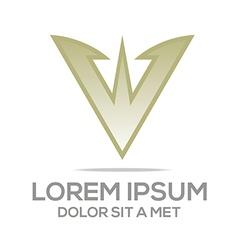 Letter av symbol element logo template vector