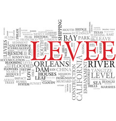 Levee word cloud concept vector
