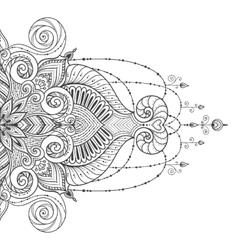 Mandala tattoo Perfect card for design vector