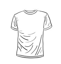 Men s t-shirt sketch vector image