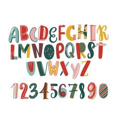 modern hand drawn latin font or english alphabet vector image