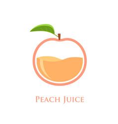 Peach juice logo vector