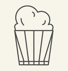 popcorn thin line icon delicious vector image