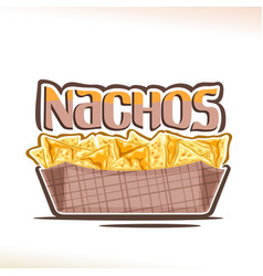 Poster for mexican nachos vector