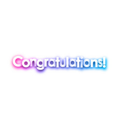 Purple congratulations sign on white background vector