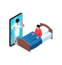 remote doctor smartphone composition vector image