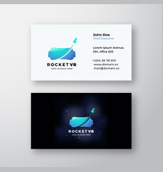 rocket virtual reality abstract sign or vector image
