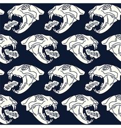 Skull animal seamless pattern vector
