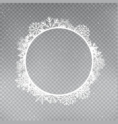 Snowflakes frame round template vector