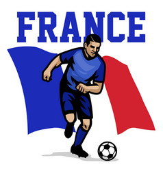 Soccer player of france vector