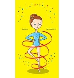 Sports for kids Artistic gymnastics vector image