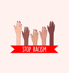 Stop racism concept black live matter usa protest vector