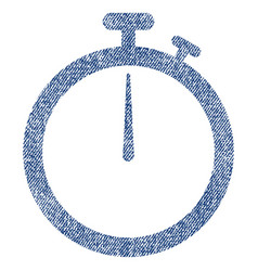 stopwatch fabric textured icon vector image