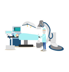 Surgeon concept in flat style vector