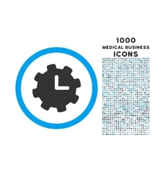 time settings rounded icon with 1000 bonus icons vector image