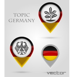 Topic Germany Map Marker vector image