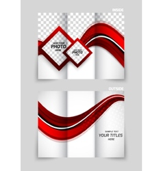 Tri-fold brochure abstract design vector