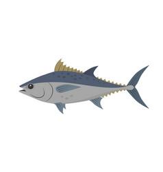 Tuna fish in flat design vector