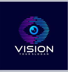 vision logo design template vector image