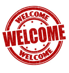 Welcome sign or stamp vector